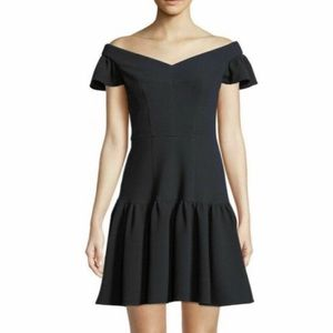NWT Rebecca Taylor off the shoulder navy dress